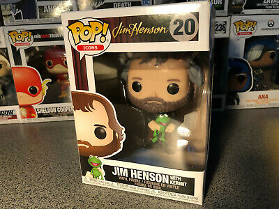 Funko Pop! Icons: Jim Henson with Kermit the Frog Vinyl Figure #20 Brand New