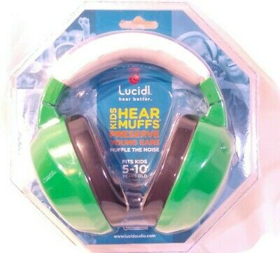 Lucid Audio Baby Hear Muffs Green Fits Kids 5-10 Years Old
