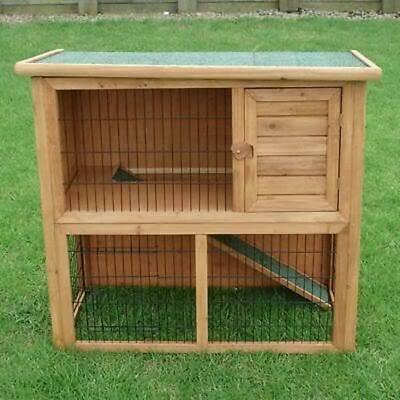 Rabbit/Guinea Pig Cage With Wire Floor Escape Free Hutch Run