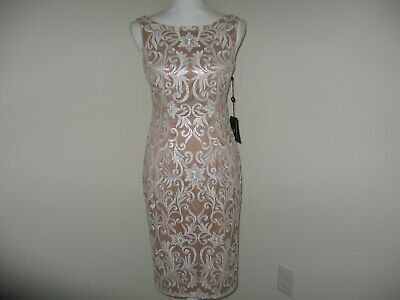 Adrianna Papell Sequin Sheath Dress for Woman Size 2 NWT MSRP $189