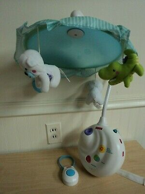 Fisher-Price Precious Planet 2-in-1 Projection Mobile w/ Remote VGUC!