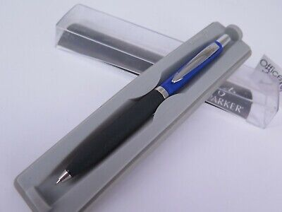 Parker Reflex Pencil .5mm Blue Barrel Black Acros-Hatched Rubber Grip