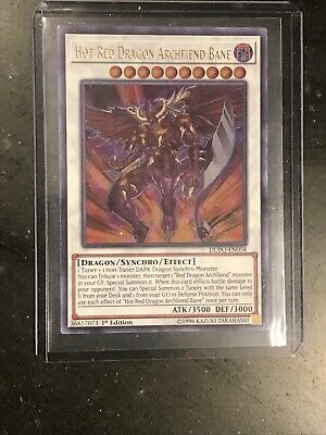 Yugioh Hot Red Dragon Archfiend Bane DUPO-EN058 Ultra Rare 1st Edition Near Mint