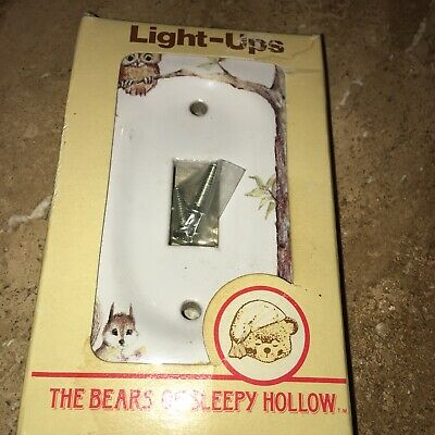 Jasco Light-Ups Ceramic Switch Plate Cover Vintage The Bears Sleepy Hollow