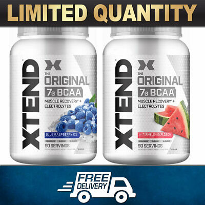 2X SCIVATION XTEND 90 SERVES BCAA's ELECTROLYTES BRANCHED CHAIN AMINO GLUTAMINE