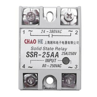 2X(Temperature Contoller 4 Terminals Solid State Relay SSR-25 AA T7Z6)