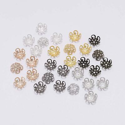 wholesale 100s 10mm charm flower bead caps silver metal diy jewelry Finding 3005
