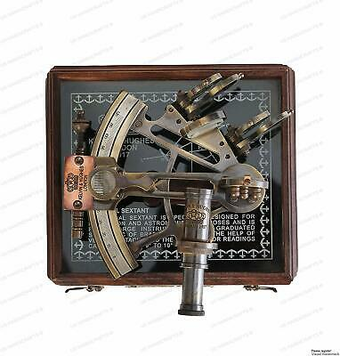ARTISTRYHANDCRAFTS Antique Astrolabe Style Brass Nautical Handmade Sextant with