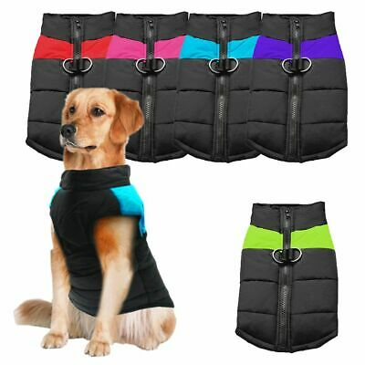 Pet Dog Vest Jacket Warm Waterproof Clothes Winter Padded Coat 7XL OR leash US