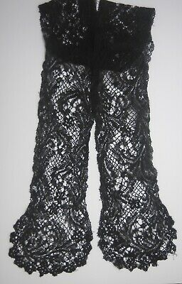 Antique 19th Century Black Lace lappet