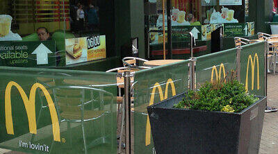 Cafe Barrier Crowd Control Restaurant Barriers Design & Print Included In Price