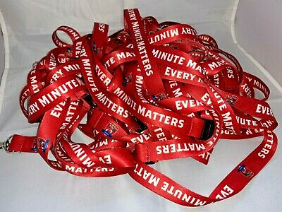 5 x Kingstone Press League One Rugby Red Lanyard for cards or keys - satin feel
