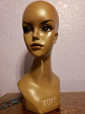 """MANNEQUIN HEAD African American display wigs - hat - jewelry """"16 Zury"""