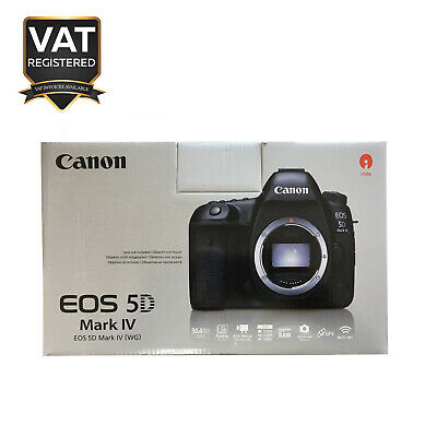 Canon EOS 5D Mark IV 30MP DSLR Camera Body Only Black - UK Model