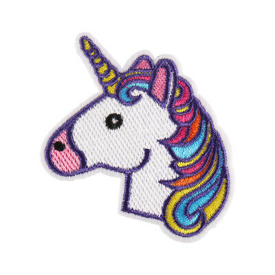 """New Colourful Unicorn Embroidered Iron ON Patch for Clothes Badge DIY 2.5x2.8"""""""