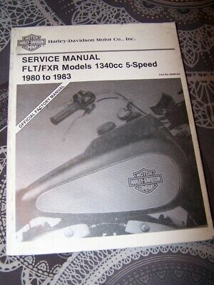 0R Service Manual Harley davidson FLT FXR 1340 cc 5-Speed 1980 to 1983