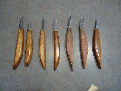 woodcarving tool 7pc lot hobby craft wood working models japan