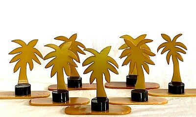 Art Deco Bakelite Collection 7 Palm Tree Place Card Holders