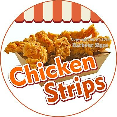 Choose Your Size Food Concession Sticker Chicken Waffles on a stick DECAL