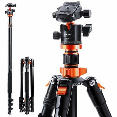 K&F Concept 78 inch Aluminum Camera Tripod with 360 Degree Ball Head for DSLR