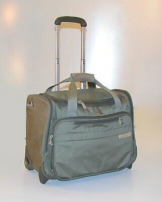 "Briggs & Riley Baseline 17"" Wheeled Cabin Bag Overnighter Carry-On ~ U212 *Olive"