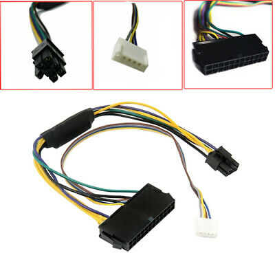 24 Pin To 6P Converter Adapter Power Cable For HP Elite 8100 8200 8300 800 600G1