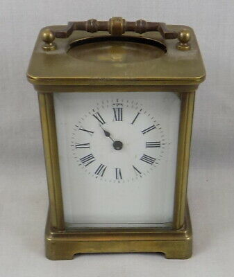 Antique Brass 8 Day Carriage Clock - Spares Or Repair
