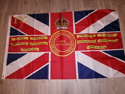 Royal inniskilling fusiliers 9th Tyrones UVF Kings colours flag 3X5 ft