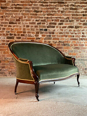 Antique French Mahogany Two Seater Sofa 19th Century Circa 1890