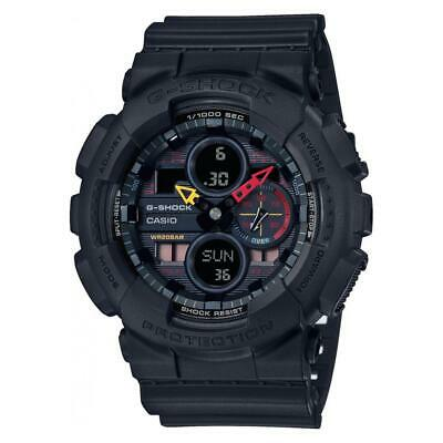 New Casio G-Shock Analog-Digital Black Resin Mens Watch GA140BMC-1A