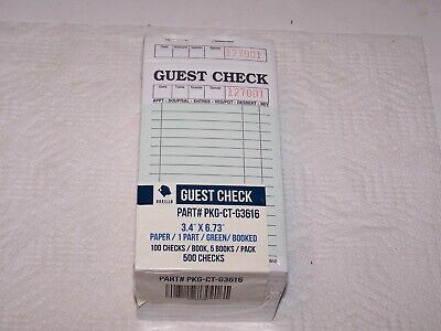 Full package 500 Gorilla Guest Checks CT-G3616 package A