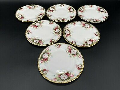 Royal Albert Celebration Dessert Plates Set of 6 England Bone China