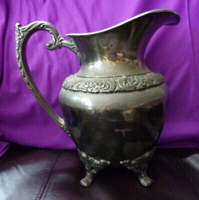 Vintage Heritage 1847 Roger Bros. Is 9417 Silver Plated Pitcher