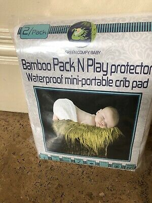 Pack N Play 2pack Portable Mini-crib Mattress Pad Protector, waterproof, bamboo