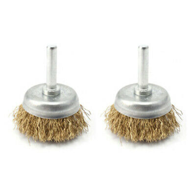 2X Drill Wire Brush Wheel Cup Metal Cleaning Rust Remover Sanding Rust Removal