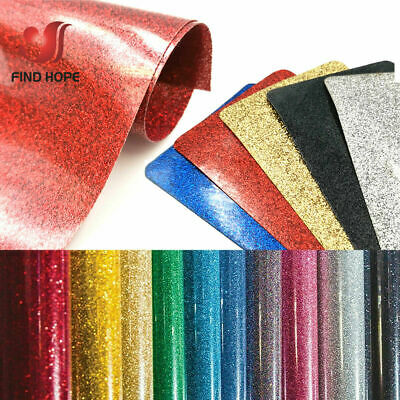 Glitter Heat Transfer Vinyl Iron On HTV T shirt Textiles Heat Press Cricut Film