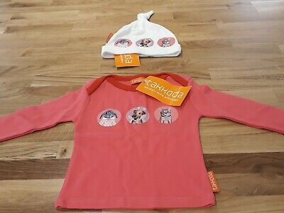 Takkoda Girls Clothing Set. Age 6-12 mths (XS). Hat And Long-sleeved T. BNWT.