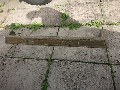 Antique vintage brass covered  Fire Fender Curb Hearth  Fireplace