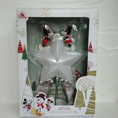 2019 Disney Store Mickey Mouse & Minnie Light Up Christmas Holiday Tree Topper