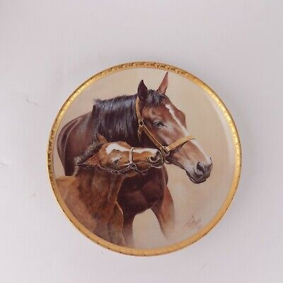 """American Artists Patience Fred Stone 1991 Horse Plate Number 2979 Size 6.5"""" EUC"""