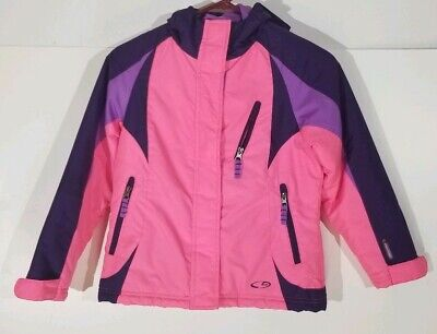 CHAMPION  Hooded Girls Jacket Pink & Purple Sz S/6-6x Venture Dry
