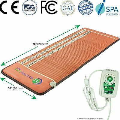 "HealthyLine TAO Mat Amethyst Tourmaline Pad with PEMF Far Infrared 76"" x 32"""