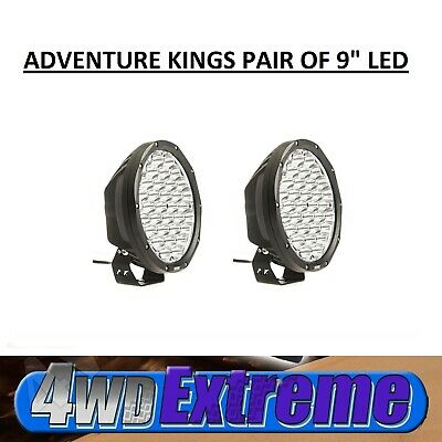 New Pair Of Kings 9 inch LED Driving Lights Pair LED Spot Round 9inch Black Work
