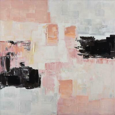 Decor Pink Abstract Canvas Ready to Hang Wall Art Decor Framed Painting Home 80X