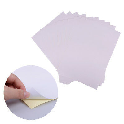 10Sheets A4 Matt Printable White Self Adhesive Sticker Paper Iink For Office HK