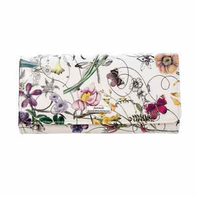 Leather Wallet, Botanics Patent Leather, White, Serenade Wallet
