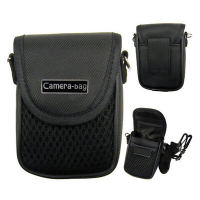 Compact Camera Case Universal Soft Bag Pouch + Strap Black 3size   HK
