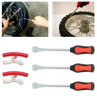 Pro Spoon Motorcycle Tire Lever Irons Changing Case Rim Protector Tool Combo US