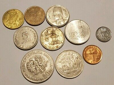 10 Assorted World Coins