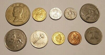 Assorted World Coins X 10